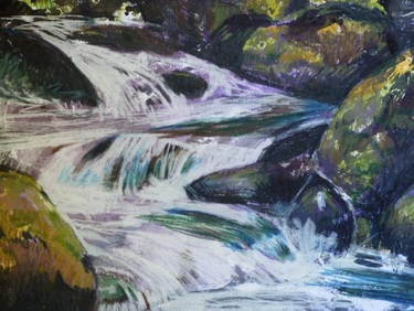 Rocks and Water by Canadian Artist Dorothy Foster